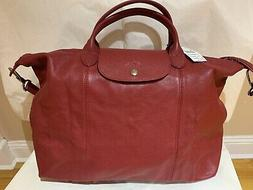 Longchamp Tote Large Smooth Leather Le Pliage Cuir Foldable