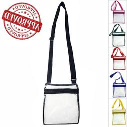Transparent Stylish PVC Purse Clear Handbag Tote Shoulder Cr