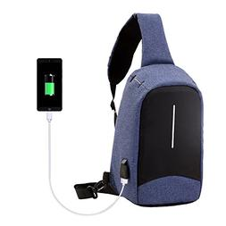 Santimon USB Charging Backpack Laptop Travel Sling Bags Gym