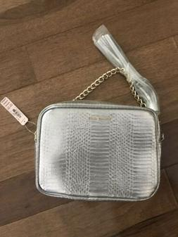 9d24661ca21 VICTORIA SECRET SILVER CROSSBODY BAG PUR...