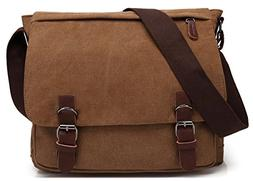 Kenox Vintage Classic Canvas Laptop Messenger Bag Crossbody