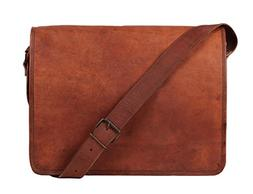 Rustic Town 13 inch Vintage Crossbody Genuine Leather Laptop