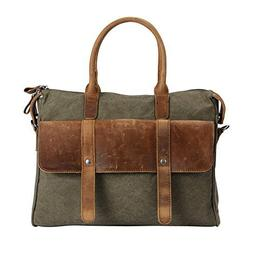 Wonder Youth Vintage Laptop Messenger Bag Briefcase Canvas L