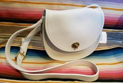 VINTAGE COACH WATSON BAG 9981  WHITE LEATHER  CROSSBODY MADE