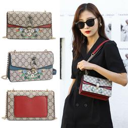 Woman Purses Fashion Printing Shoulder Bags PU Leather Satch