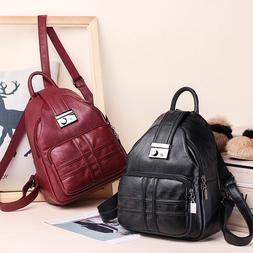 Women Backpack Simple Casual Soft Leather Anti-theft Travel
