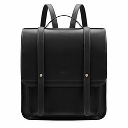 ECOSUSI Women Briefcase Laptop Backpack PU Leather Satchel M