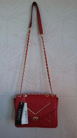 Women fashion crossbody bags, NWT Isabelle bag, Color Red.