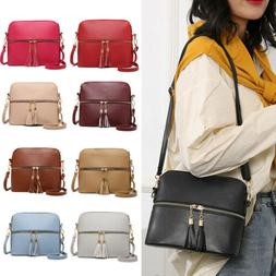 Women Handbag Leather Satchel Shoulder Bag Tote Ladies Messe