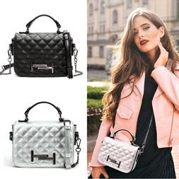 Women Fashion Shoulder Bag Small Quilted Crossbody Bags Edgy