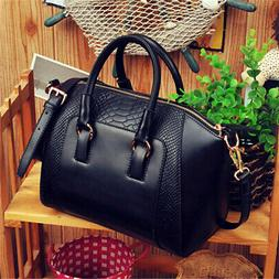 Women Lady Leather Handbag Satchel Crossbody Tote Shoulder B