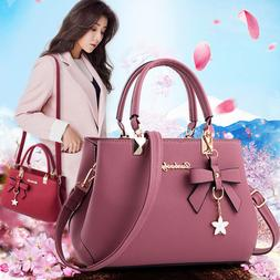 Women Lady Leather Handbag Shoulder Messenger Satchel Tote C
