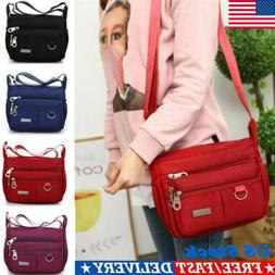 Women Lady Waterproof Nylon Messenger Bags Crossbody Shoulde