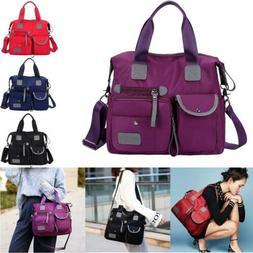 Women Lady Waterproof Nylon Shoulder Messenger Bag Large Cap