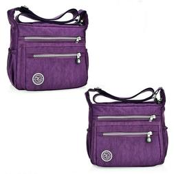 Women Lady Waterproof Nylon Single-shoulder Messenger Crossb