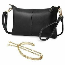 Women RFID Blocking Crossbody Bags Lightweight Purse Leather