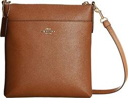 COACH Women's Crossgrain Messenger Crossbody Gd/1941 Saddle