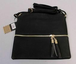 Deluxity Women's Lightweight Crossbody Bag With Tassel HD3 B
