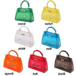 Women Transparent Alphabet Jelly Bag Messenger Handbag Cross