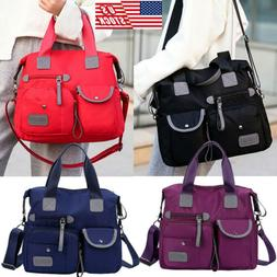 Women Waterproof Messenger Bag Nylon Shoulder Bags Large Cap