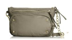 Womens Faux Leather Purse Hand Bag Color Gray Medium Crossbo