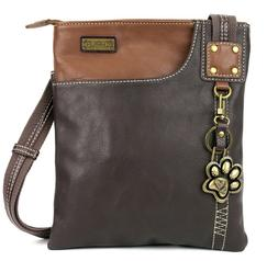 Chala Xbody Swing Bag Crossbody with Metal Key Fob- Cat, Paw