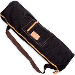 SANUVIA Large Yoga Mat Carrier Bag with Strap - Zipper Cover