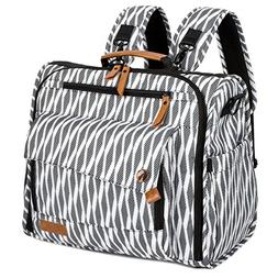 ALLCAMP Zebra Diaper Bag Large, Support Baby Stroller, Conve
