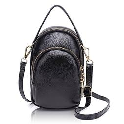 Zg Girls Women 100% Real Leather Small Cute Crossbody Cell P